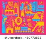 vector illustration of happy... | Shutterstock .eps vector #480773833