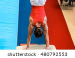 man gymnast performs exercise... | Shutterstock . vector #480792553