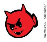 cute little devil vector eps... | Shutterstock .eps vector #480803587