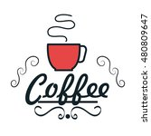 icon cup coffee hot fresh design | Shutterstock .eps vector #480809647