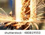 spot welding machine industrial ... | Shutterstock . vector #480819553