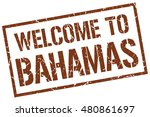 welcome to. bahamas. stamp