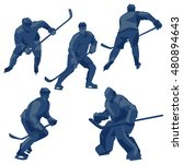 silhouettes ice hockey players  ... | Shutterstock .eps vector #480894643