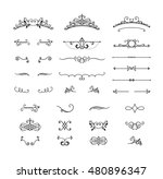 set of vintage swirls and... | Shutterstock .eps vector #480896347