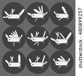 Variation Of Folding Knife Fla...