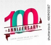 anniversary emblems 100... | Shutterstock .eps vector #480905587