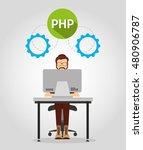 design language programming... | Shutterstock .eps vector #480906787