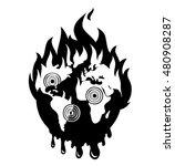 Earth Disaster Catastrophe Logo