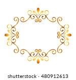 elegant gold frame style vector ... | Shutterstock .eps vector #480912613