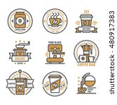 label for restaurant coffee... | Shutterstock .eps vector #480917383
