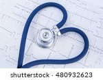 heart formed stethoscope...   Shutterstock . vector #480932623