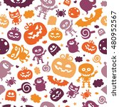 bright cartoon pattern for... | Shutterstock .eps vector #480952567