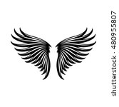 wings icon in simple style on a ... | Shutterstock .eps vector #480955807
