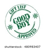 "stamp with text ""good boy  gift ... 