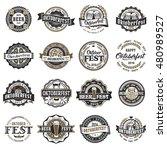 oktoberfest retro styled vector ... | Shutterstock .eps vector #480989527