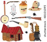 alcohol,america,antique,banjo,barrels,bent,bullet holes,cabin,clipart,corncob pipe,country,distilling,elements,hanging,hat