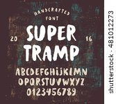 handcrafted rough font. brush... | Shutterstock .eps vector #481012273