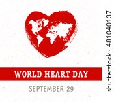 vector illustration world heart ... | Shutterstock .eps vector #481040137