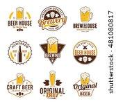 set of vector color beer logo ... | Shutterstock .eps vector #481080817