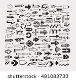 arrows on a white background.... | Shutterstock . vector #481083733