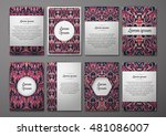 flyers template set with... | Shutterstock .eps vector #481086007