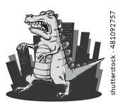 monster in the city | Shutterstock .eps vector #481092757