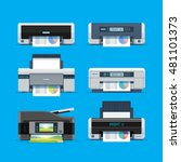 set of home color printers.... | Shutterstock .eps vector #481101373