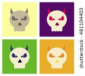 assembly flat icons halloween... | Shutterstock .eps vector #481104403
