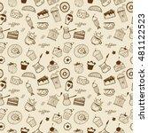 desserts seamless pattern   Shutterstock .eps vector #481122523
