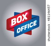 Box Office Arrow Tag Sign.