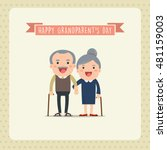 grandparents and grandchildren. ... | Shutterstock .eps vector #481159003