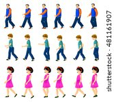 people walking animation