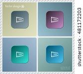 1080p full hd sign | Shutterstock .eps vector #481172203