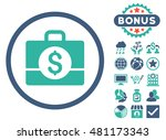 accounting case icon with bonus.... | Shutterstock .eps vector #481173343