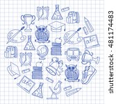 school and education icons | Shutterstock .eps vector #481174483