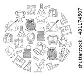school and education icons | Shutterstock .eps vector #481174507