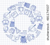 school and education icons | Shutterstock .eps vector #481174537