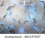 abstract 3d rendering... | Shutterstock . vector #481197037