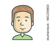 avatar man cartoon | Shutterstock .eps vector #481235803