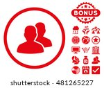 users icon with bonus. vector... | Shutterstock .eps vector #481265227