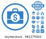 accounting case icon with bonus.... | Shutterstock .eps vector #481279303