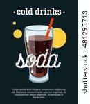 cold drinks   blackboard...   Shutterstock .eps vector #481295713