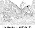 stylized composition of turtle  ... | Shutterstock .eps vector #481304113