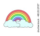 Rainbow On A White Background....