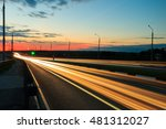 moving car with blur light... | Shutterstock . vector #481312027