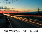 moving car with blur light... | Shutterstock . vector #481312033