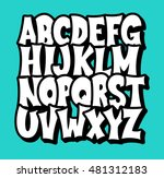 comic alphabet. graffiti vector ... | Shutterstock .eps vector #481312183
