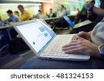 it students on workshop ... | Shutterstock . vector #481324153
