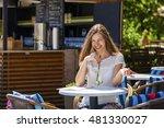 young beautiful brunette woman... | Shutterstock . vector #481330027