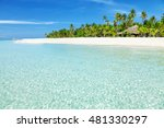 fantastic turquoise beach with... | Shutterstock . vector #481330297